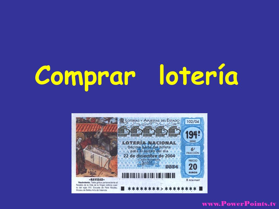 Un tipo quería comprar un billete de lotería pero, estaba indeciso sobre que números escoger, así que va donde la muchacha de la taquilla y le pregunta: www.PowerPoints.tv
