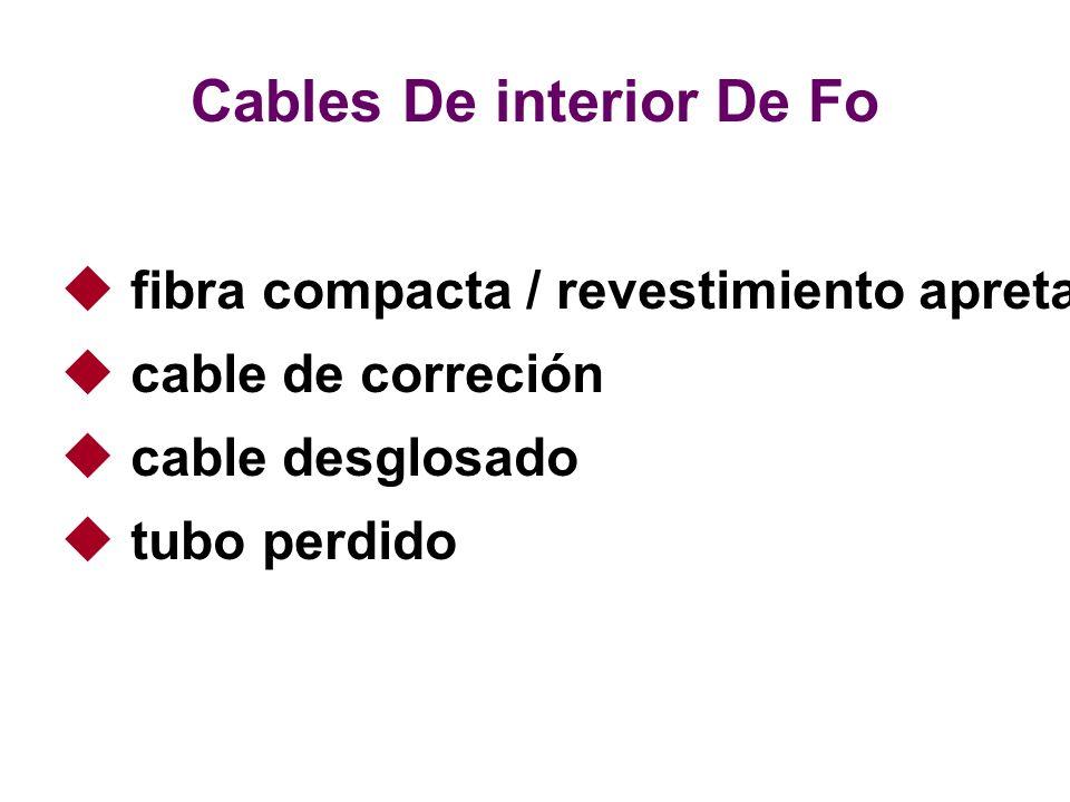 fibra compacta / revestimiento apretado cable de correción cable desglosado tubo perdido Cables De interior De Fo