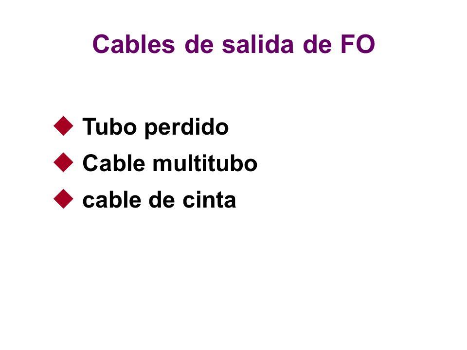 Tubo perdido Cable multitubo cable de cinta Cables de salida de FO