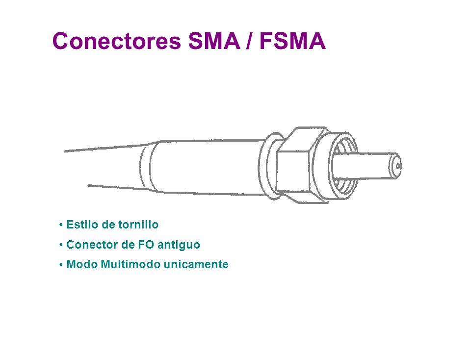 Conectores SMA / FSMA Estilo de tornillo Conector de FO antiguo Modo Multimodo unicamente