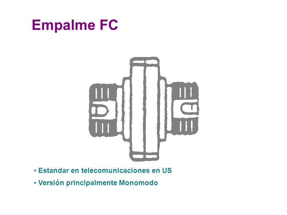 Empalme FC Estandar en telecomunicaciones en US Versión principalmente Monomodo