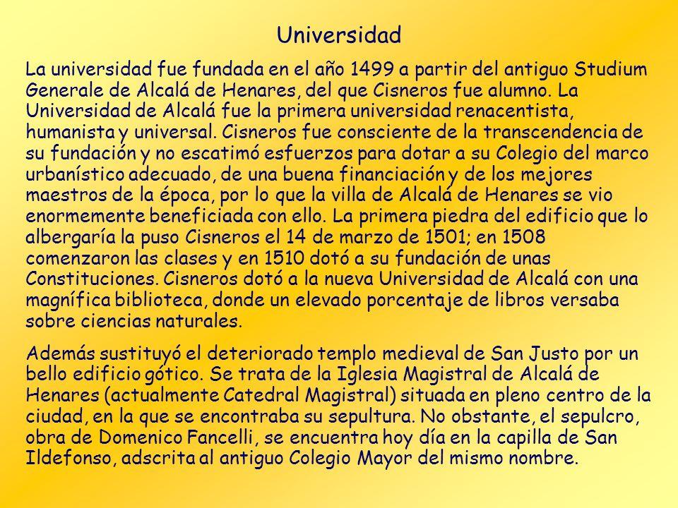 Cardenal Cisneros Durante su vida participó, en mayor o menor medida, en todo lo que se hizo durante el reinado de los Reyes Católicos y contribuyó de