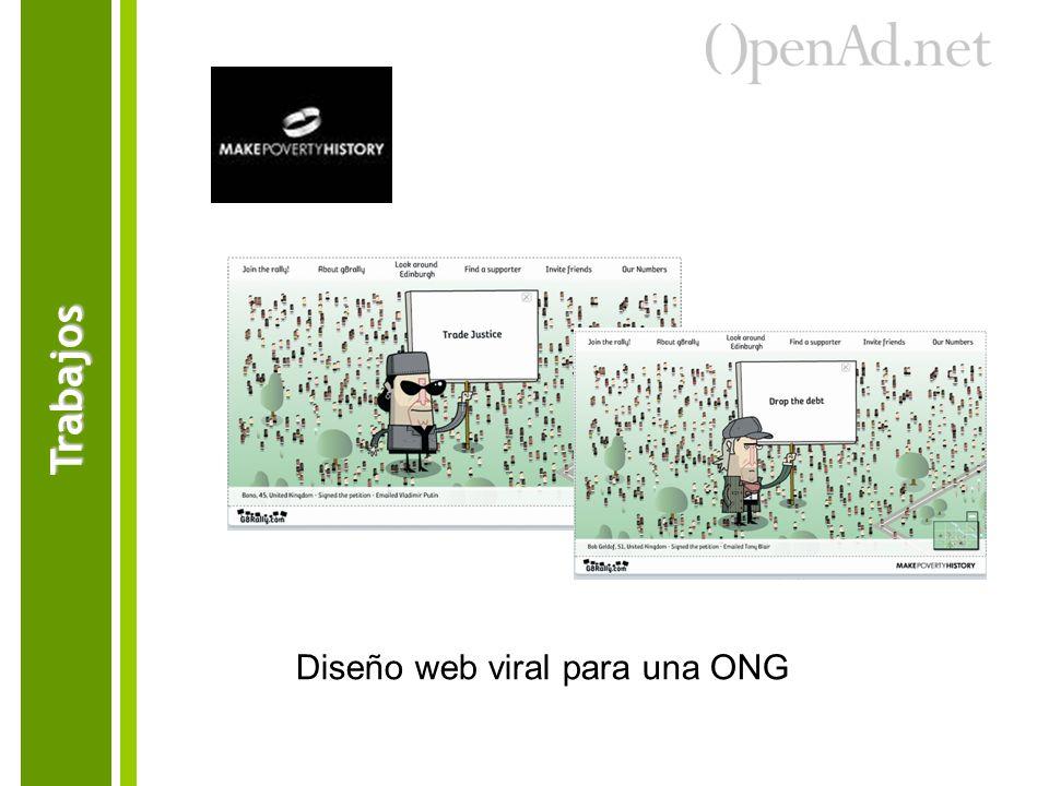 Diseño web viral para una ONG Trabajos