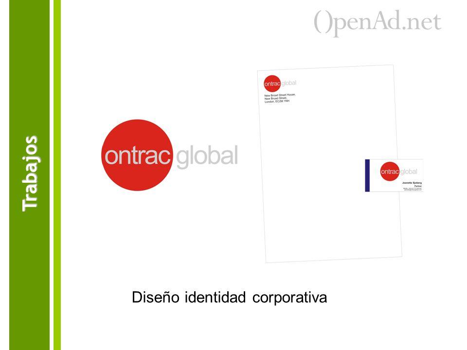 Diseño identidad corporativa Trabajos