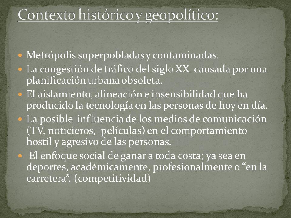 Metrópolis superpobladas y contaminadas. La congestión de tráfico del siglo XX causada por una planificación urbana obsoleta. El aislamiento, alineaci