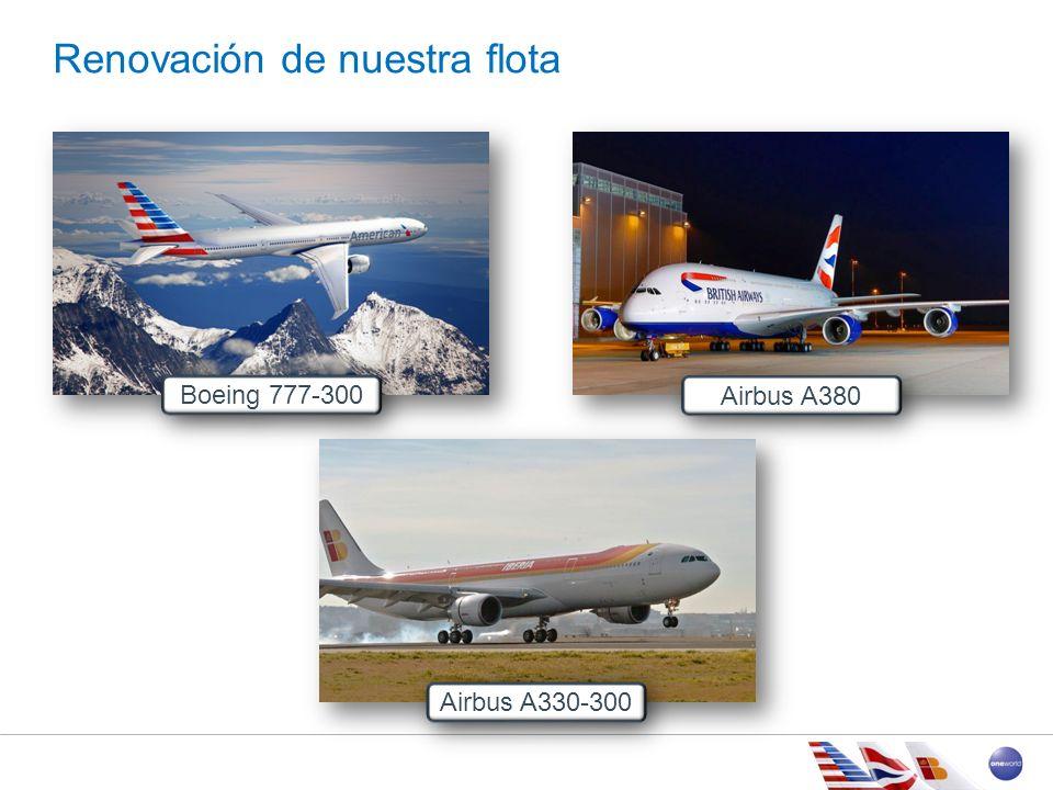 Renovación de nuestra flota Airbus A330-300 Boeing 777-300 Airbus A380