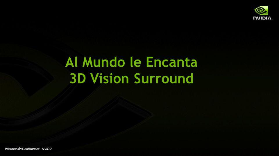 Información Confidencial - NVIDIA Al Mundo le Encanta 3D Vision Surround