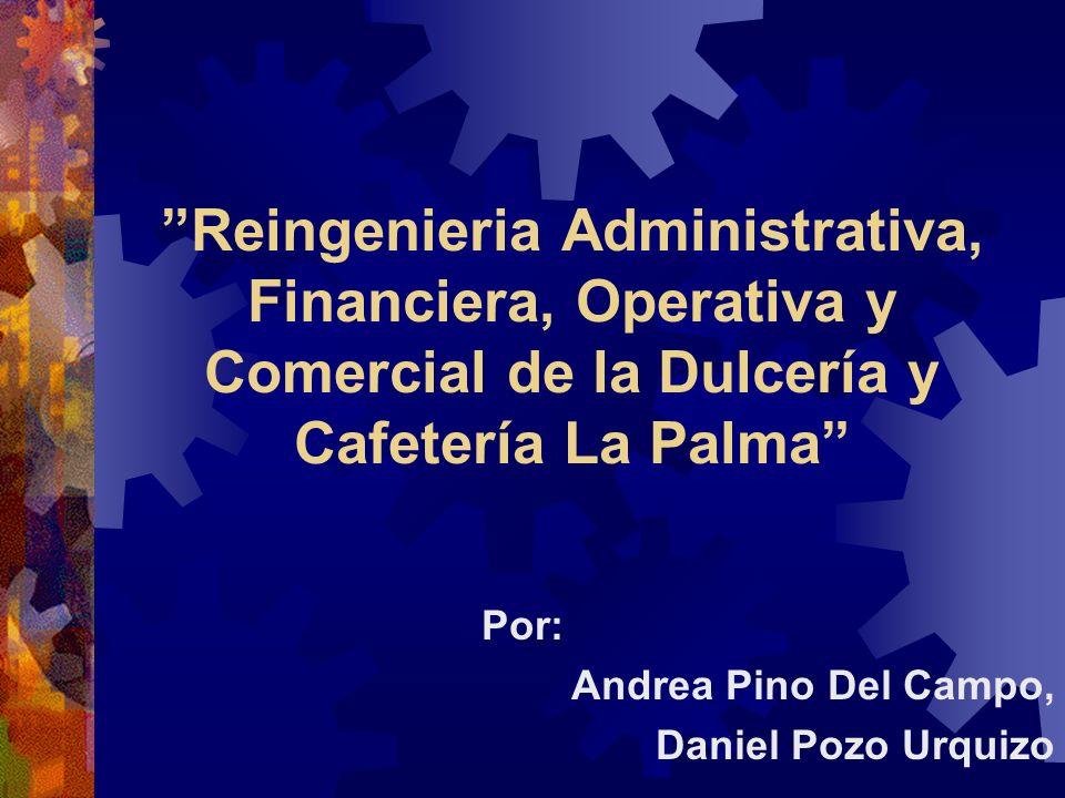 Reingenieria Administrativa, Financiera, Operativa y Comercial de la Dulcería y Cafetería La Palma Por: Andrea Pino Del Campo, Daniel Pozo Urquizo
