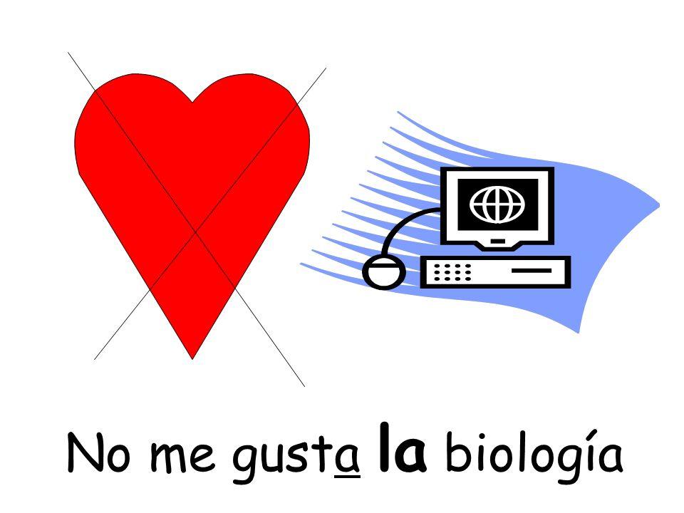No me gusta la biología