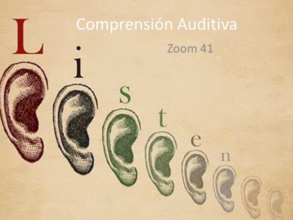 Comprensión Auditiva Zoom 41