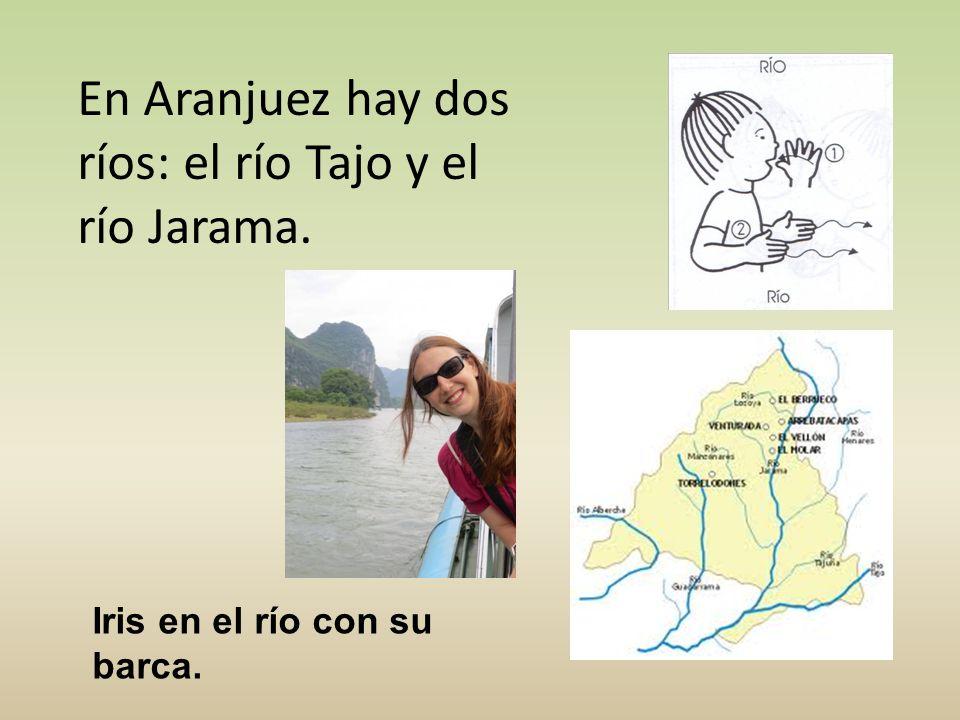 En Aranjuez hay dos ríos: el río Tajo y el río Jarama. Iris en el río con su barca.