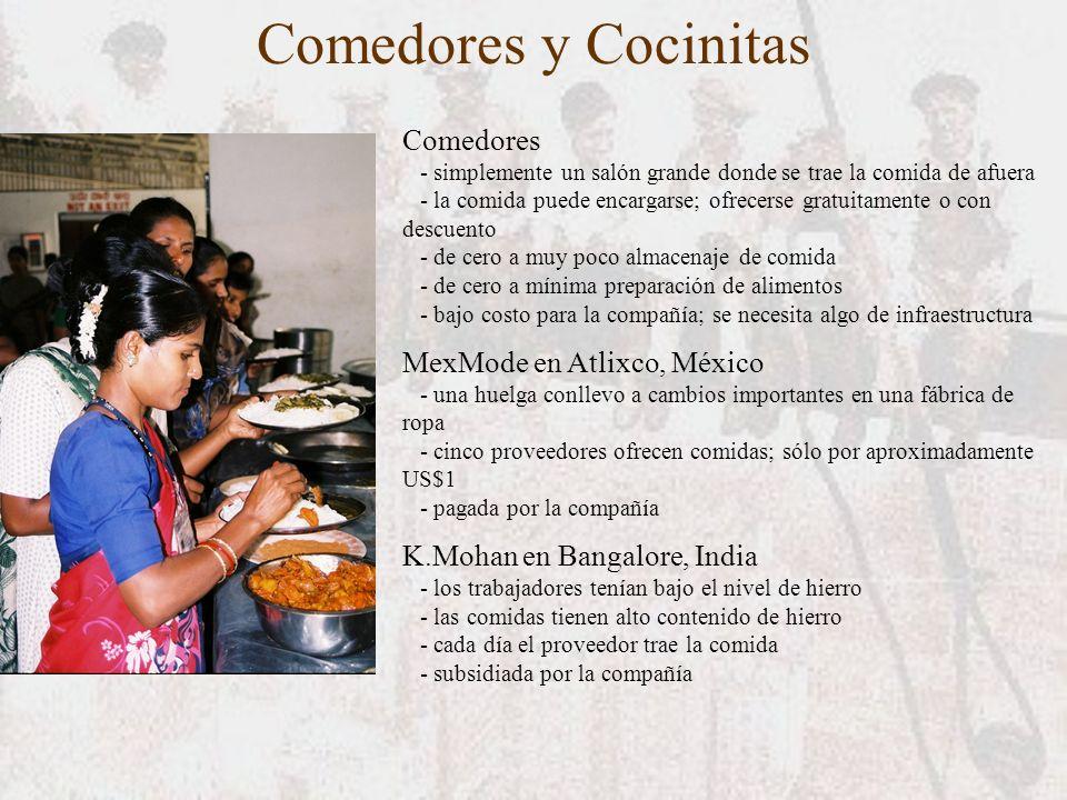 Comedores y Cocinitas Comedores - simplemente un salón grande donde se trae la comida de afuera - la comida puede encargarse; ofrecerse gratuitamente