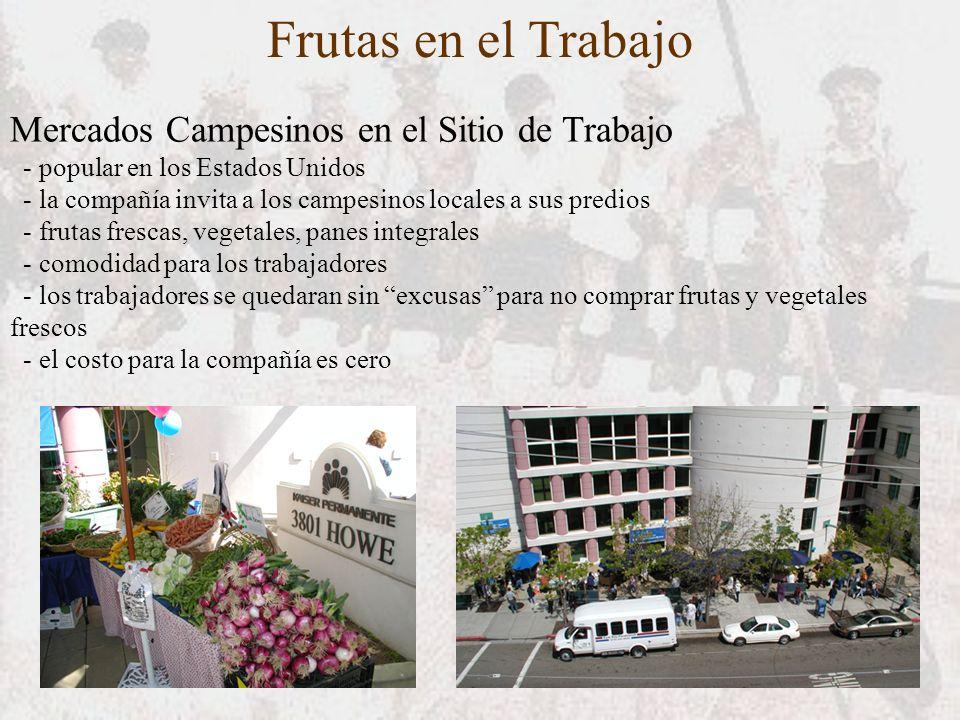 Frutas en el Trabajo Mercados Campesinos en el Sitio de Trabajo - popular en los Estados Unidos - la compañía invita a los campesinos locales a sus pr