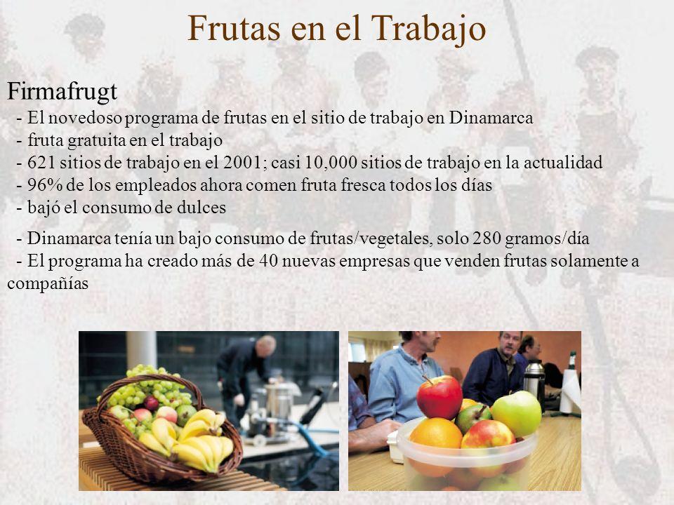 Frutas en el Trabajo Firmafrugt - El novedoso programa de frutas en el sitio de trabajo en Dinamarca - fruta gratuita en el trabajo - 621 sitios de tr