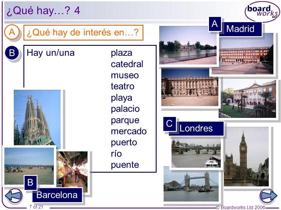 © Boardworks Ltd 2006 8 of 21 ¿Qué se puede hacer en A Coruña.