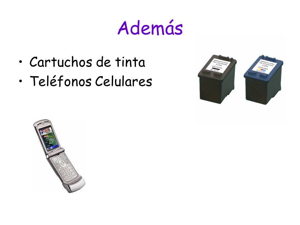 Además Cartuchos de tinta Teléfonos Celulares