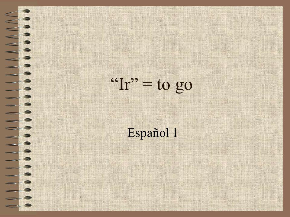 Ir = to go Español 1