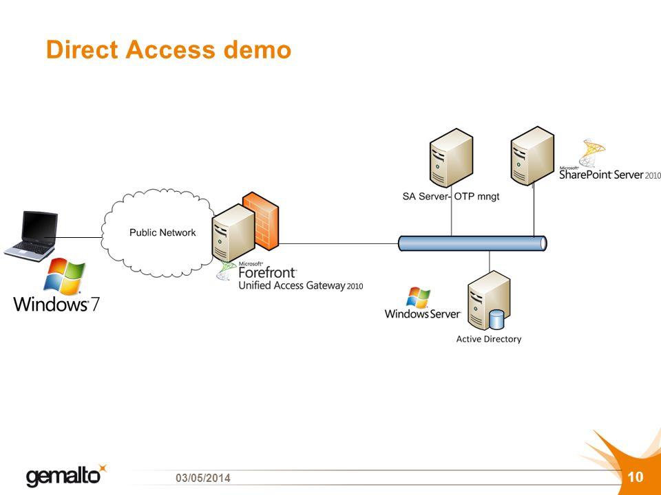 Direct Access demo 10 03/05/2014