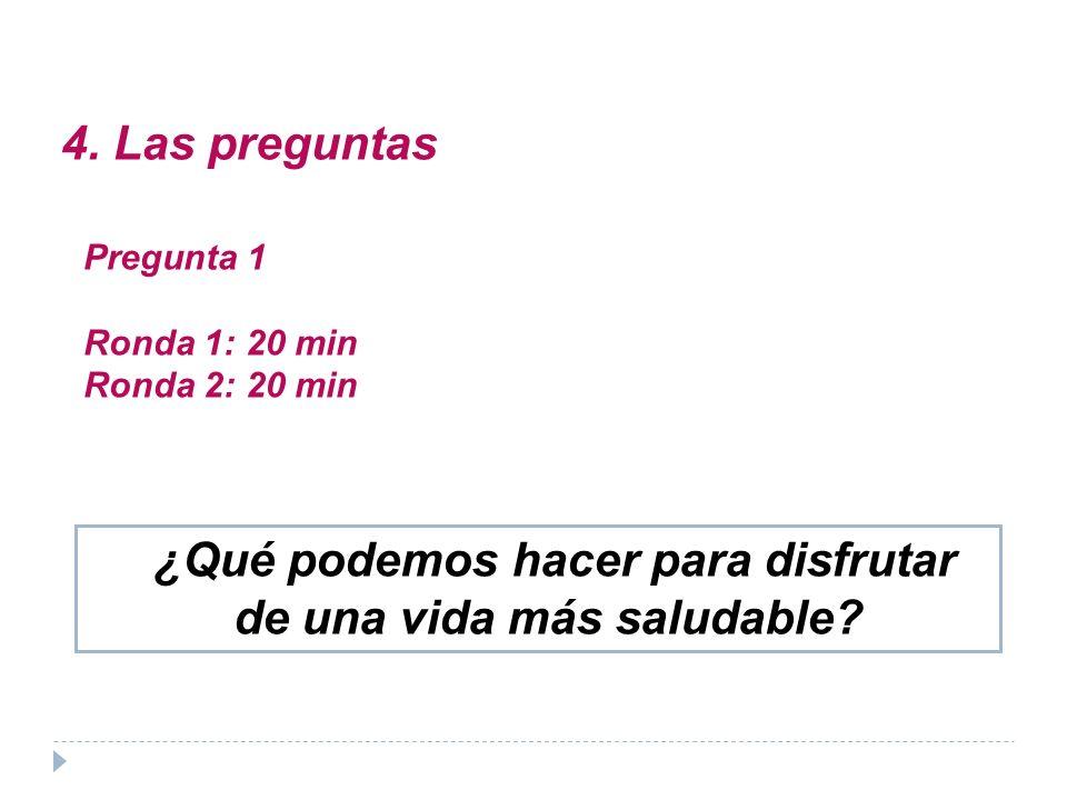 ¿Qué medidas concretas propones para lograr un efecto multiplicador? Pregunta 2: 1ª ronda (20 min.)