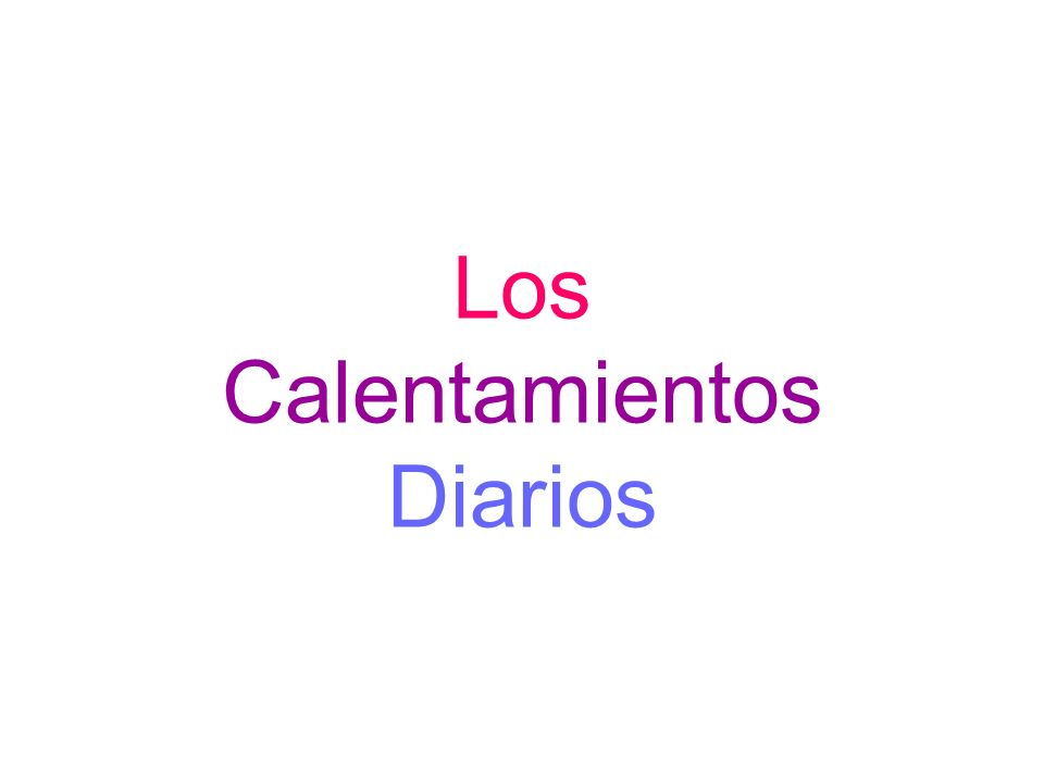 Calentamiento 1 19.8.08 Match the following cognates (words that look and sound the same in both languages).
