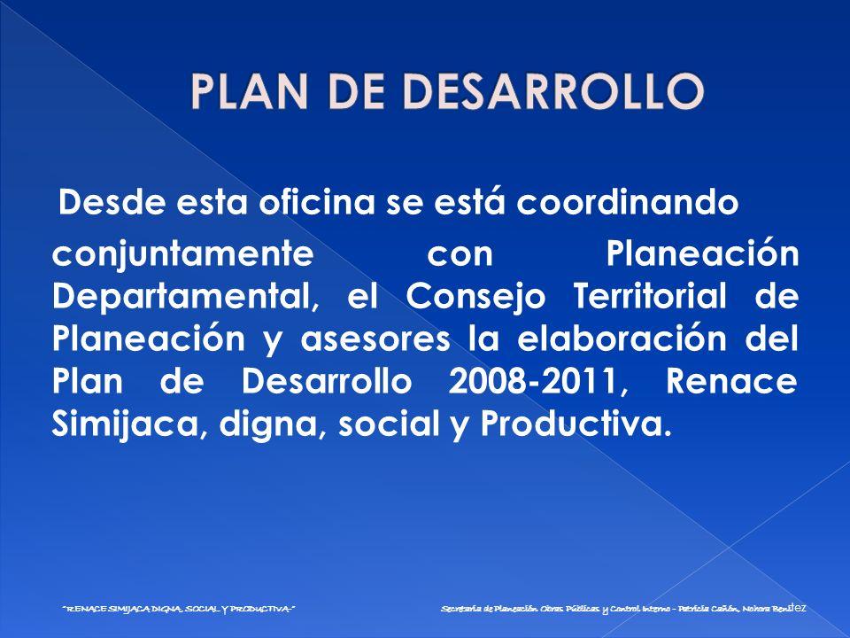 Secretaria de Planeación Obras Públicas y Control Interno - Patricia Cañón, Nohora Benitez Contrato de prestación de servicios UMATA Contrato de prestación de servicios para la restructuración, Plan de Desarrollo.