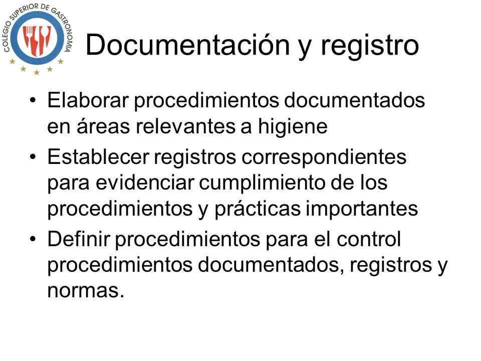 Requisitos certificación La organización debe: Identificar áreas y actividades relevantes en materia de higiene Implantar y mantener un Sistema de Ase