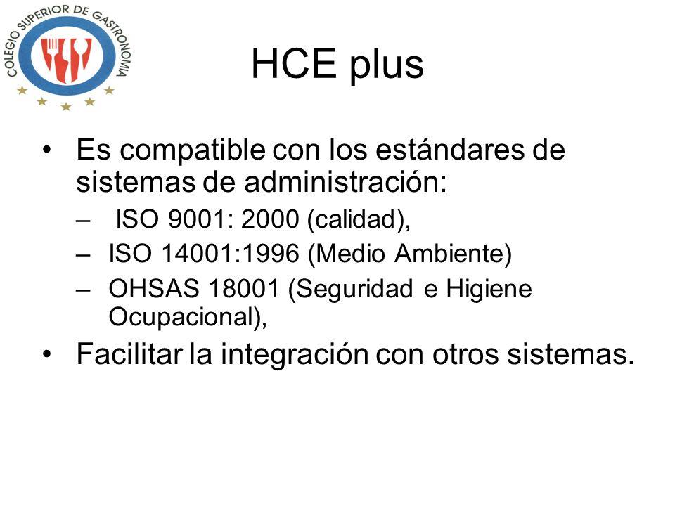 Es compatible con los estándares de sistemas de administración: – ISO 9001: 2000 (calidad), –ISO 14001:1996 (Medio Ambiente) –OHSAS 18001 (Seguridad e Higiene Ocupacional), Facilitar la integración con otros sistemas.