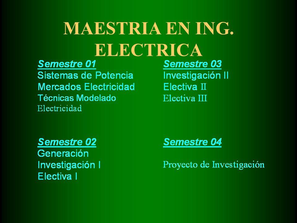 MAESTRIA EN ING. ELECTRICA