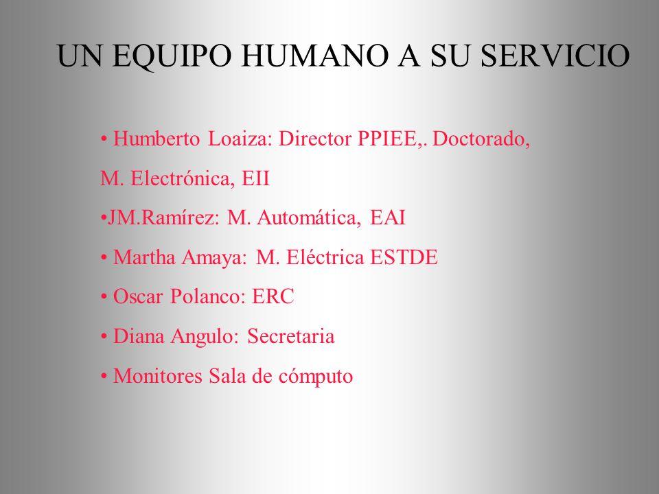 UN EQUIPO HUMANO A SU SERVICIO Humberto Loaiza: Director PPIEE,.