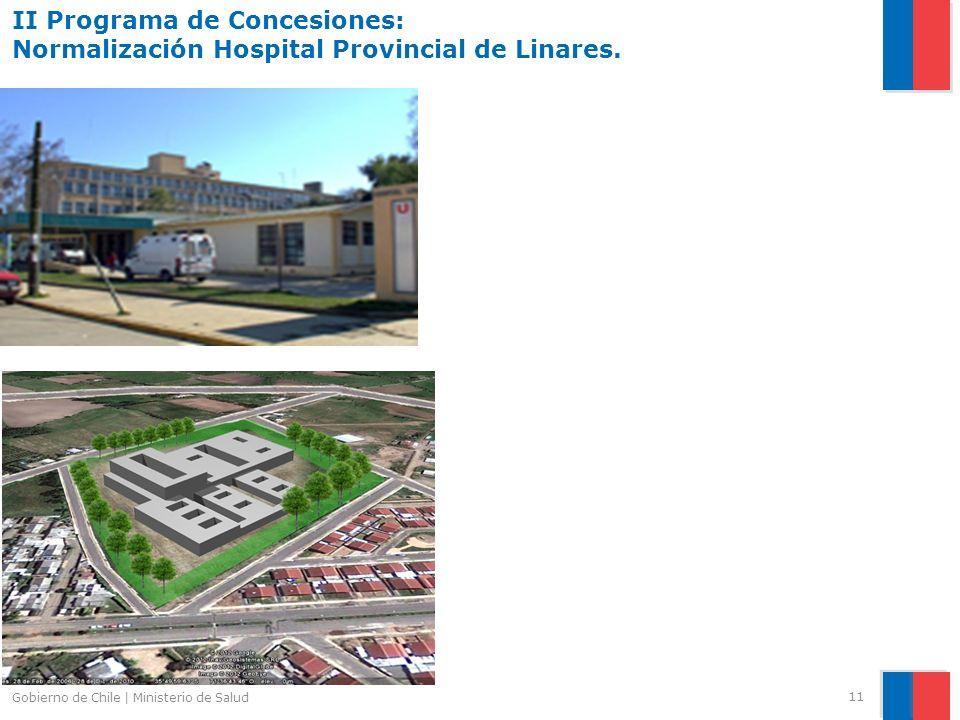 II Programa de Concesiones: Normalización Hospital Provincial de Linares.