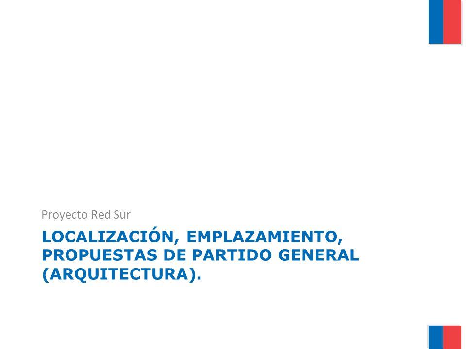 LOCALIZACIÓN, EMPLAZAMIENTO, PROPUESTAS DE PARTIDO GENERAL (ARQUITECTURA). Proyecto Red Sur