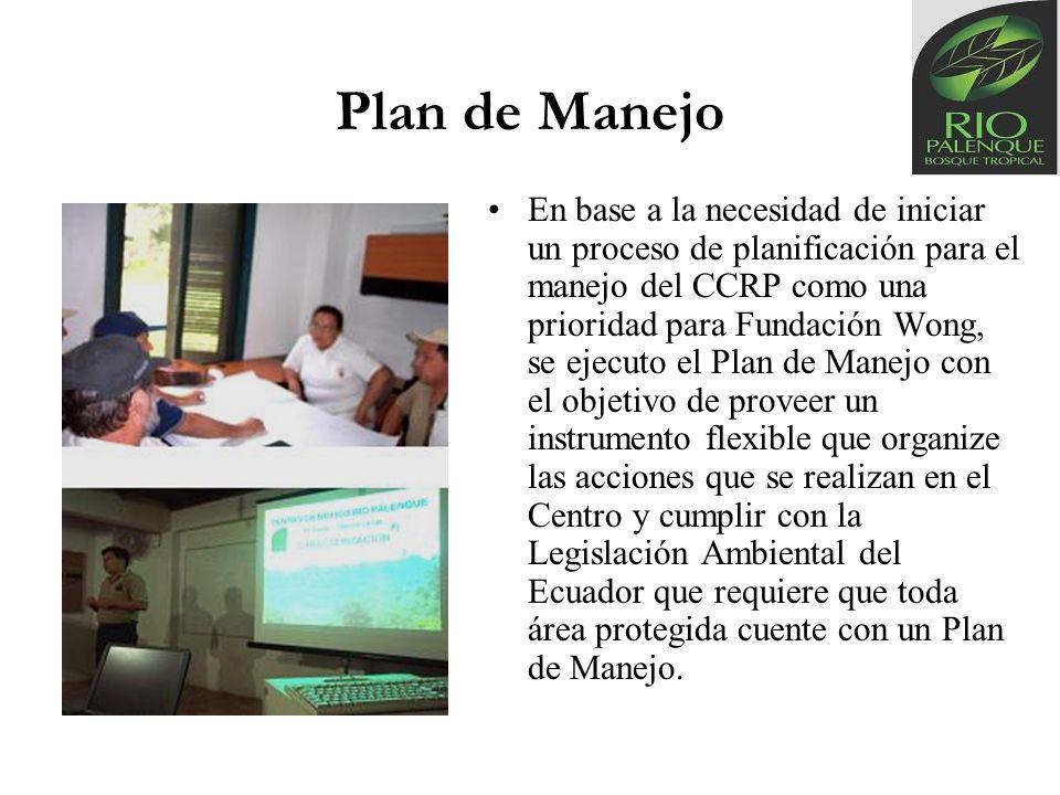 Plan de Manejo En base a la necesidad de iniciar un proceso de planificación para el manejo del CCRP como una prioridad para Fundación Wong, se ejecut