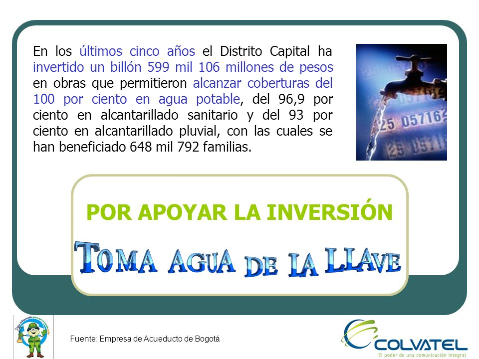 POR APOYAR LA INVERSIÓN En los últimos cinco años el Distrito Capital ha invertido un billón 599 mil 106 millones de pesos en obras que permitieron al