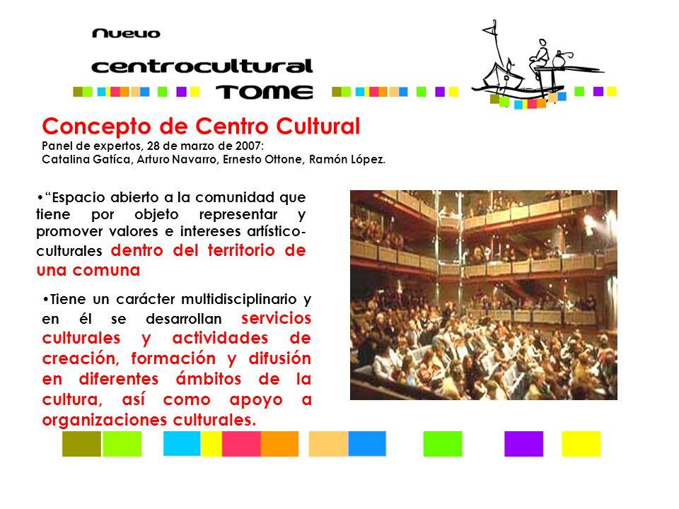 Concepto de Centro Cultural Panel de expertos, 28 de marzo de 2007: Catalina Gatíca, Arturo Navarro, Ernesto Ottone, Ramón López.