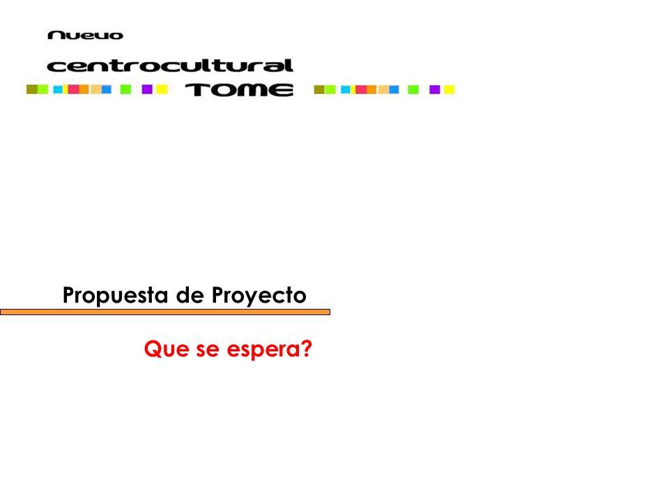 Desarrollar una propuesta de Modelo de Gestión y Programa de Arquitectura que recoja la demanda cultural y artística de Tomé.