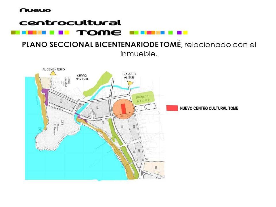 PLANO SECCIONAL BICENTENARIODE TOMÉ, relacionado con el inmueble.