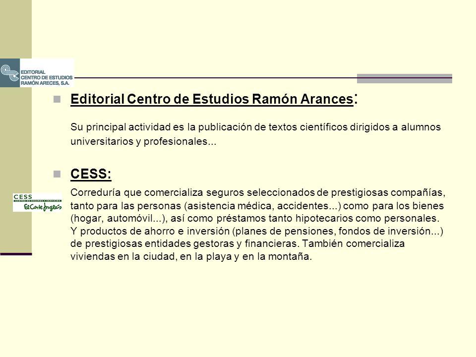 Editorial Centro de Estudios Ramón Arances : Su principal actividad es la publicación de textos científicos dirigidos a alumnos universitarios y profe