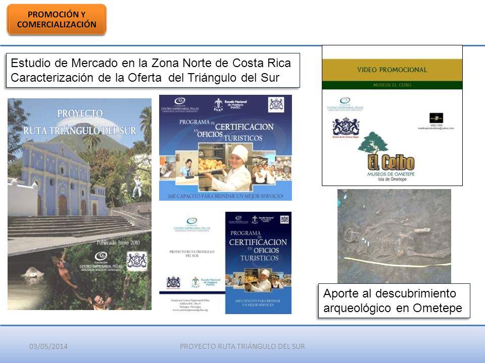 03/05/2014PROYECTO RUTA TRIÁNGULO DEL SUR Estudio de Mercado en la Zona Norte de Costa Rica Caracterización de la Oferta del Triángulo del Sur Estudio