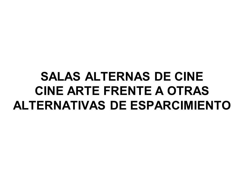SALAS ALTERNAS DE CINE CINE ARTE FRENTE A OTRAS ALTERNATIVAS DE ESPARCIMIENTO