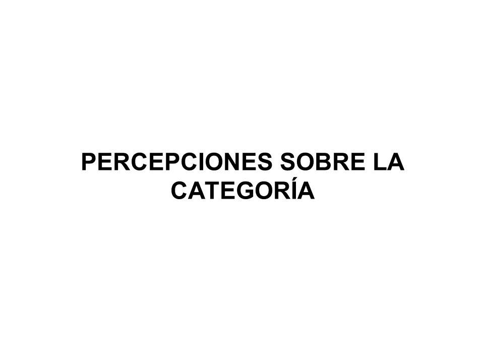 PERCEPCIONES SOBRE LA CATEGORÍA