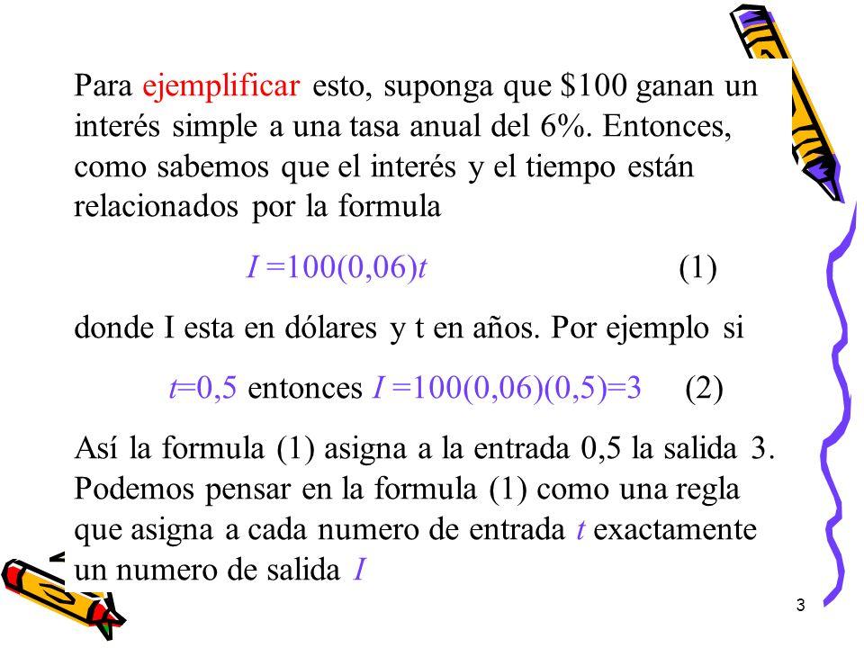 4 DEFINICION DE FUNCION Una función es una regla o correspondencia que asigna a cada número de entrada un único número de salida.
