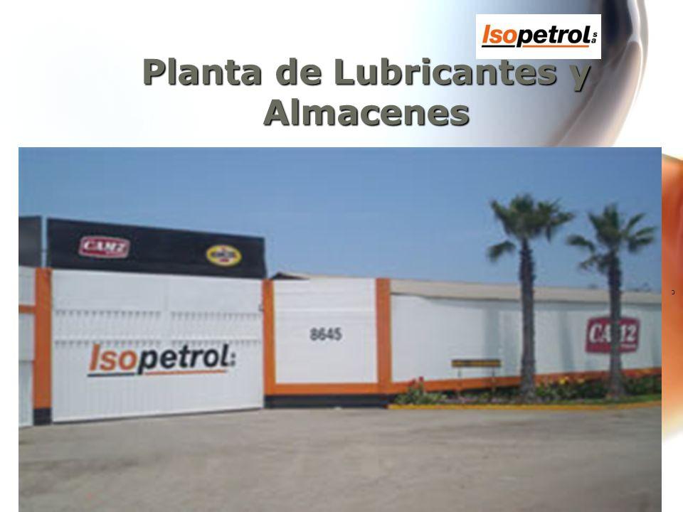 c El local principal incluye lo siguiente: Tanques de almacenamiento de aceites básicos.