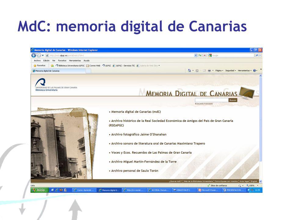 MdC: memoria digital de Canarias
