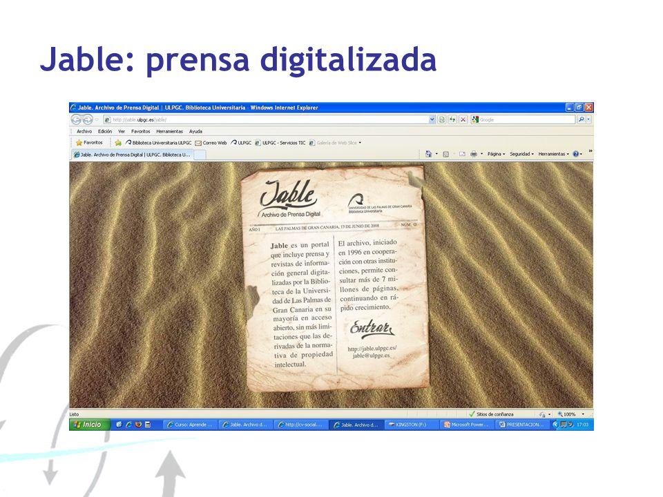 Jable: prensa digitalizada