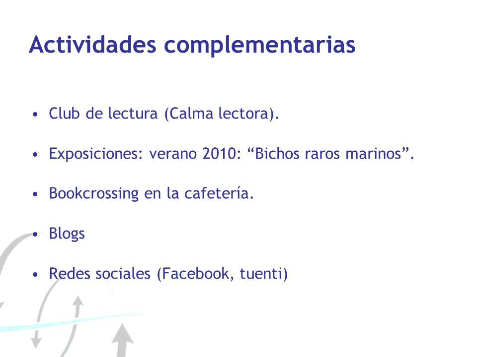 Actividades complementarias Club de lectura (Calma lectora).