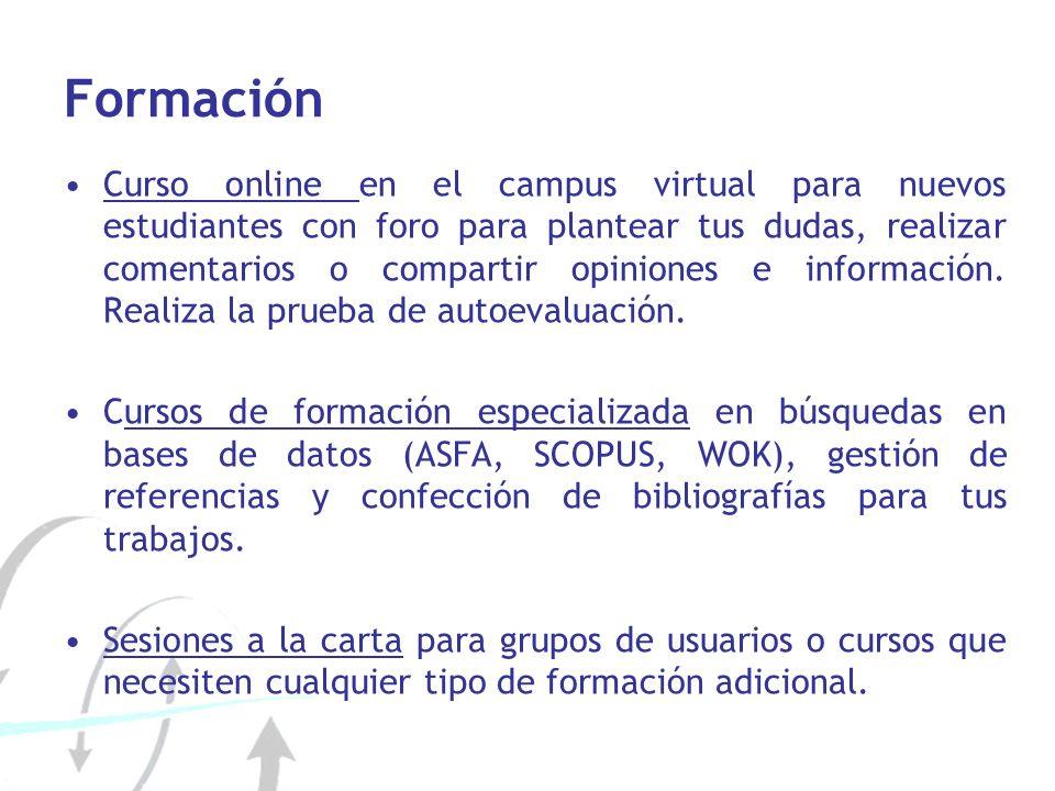 Formación Curso online en el campus virtual para nuevos estudiantes con foro para plantear tus dudas, realizar comentarios o compartir opiniones e inf