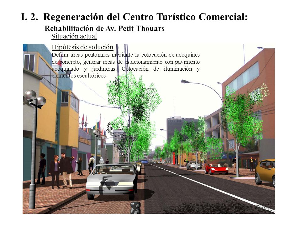 I.2. Regeneración del Centro Turístico Comercial: Rehabilitación de Av.