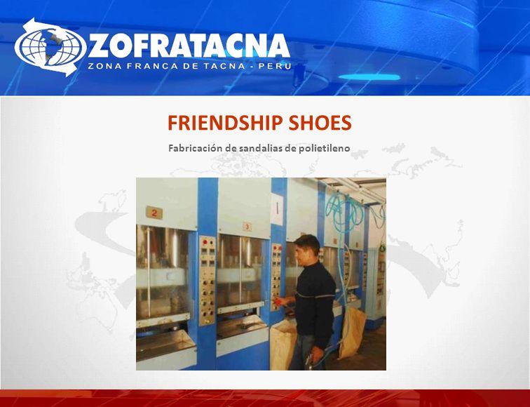 Fabricación de sandalias de polietileno FRIENDSHIP SHOES