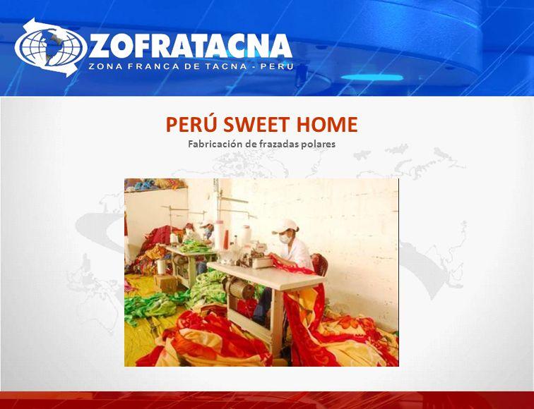 Fabricación de frazadas polares PERÚ SWEET HOME