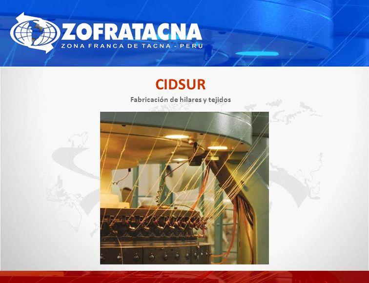 Fabricación de hilares y tejidos CIDSUR